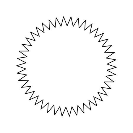 Carimbo redondo rótulo ícone vector ilustração design gráfico Foto de archivo - 81167305