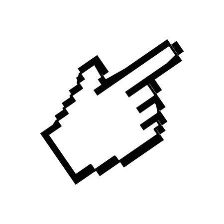 Hand cursor click icon vector illustration graphic design