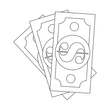 Money bills isolated icon vector illustration graphic design