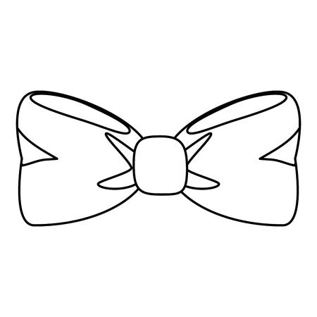 蝶ネクタイ分離アイコン ベクトル イラスト グラフィック デザイン