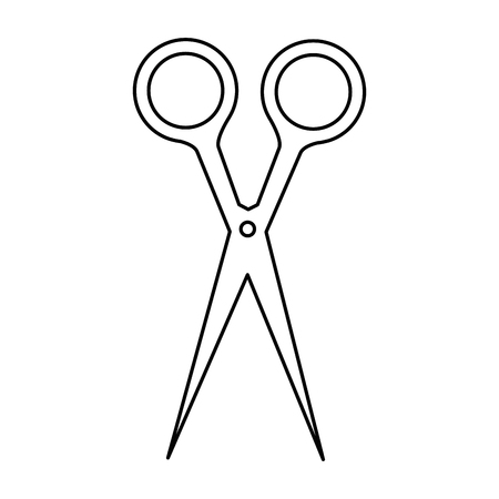 Scissors utensil isolated icon vector illustration graphic design