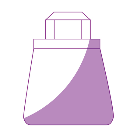 shadowed: Shopping bag isolated icon vector illustration graphic design