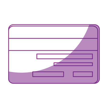 shadowed: Credit card isolated icon vector illustration graphic design