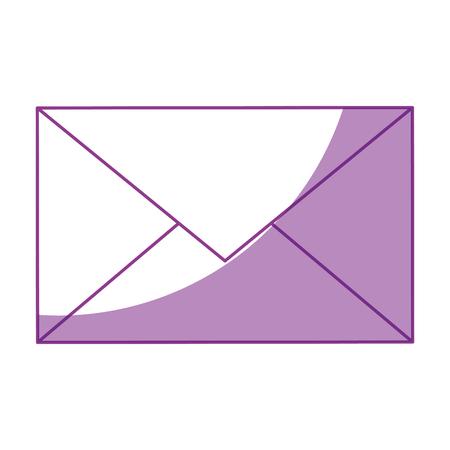 E-mail of post symbool icoon vector illustratie grafisch ontwerp Stock Illustratie