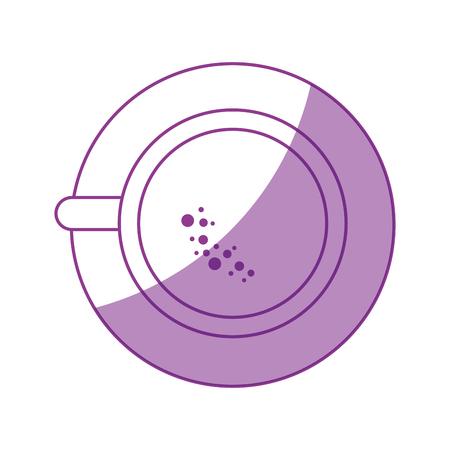 コーヒーのおいしいカップのアイコンベクトルイラストグラフィックデザイン