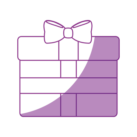gift box cartoon icon vector illustration graphic design