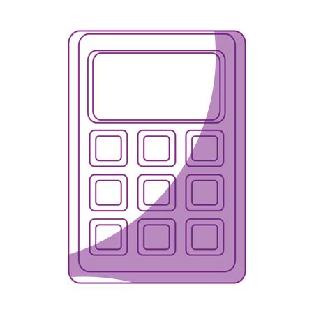 Mathematics calculator cartoon icon vector illustration graphic design
