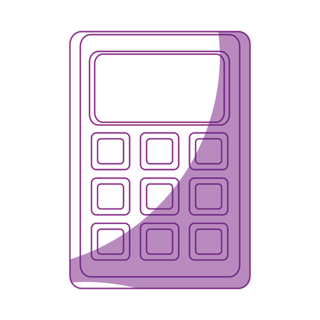 Wiskunde calculator cartoon pictogram vector illustratie grafisch ontwerp