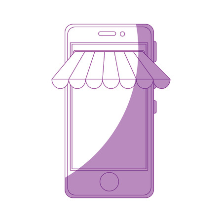 Smartphone buy online icon vector illustration graphic design Illustration
