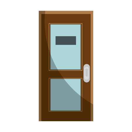 Office door isolated icon vector illustration graphic design Çizim