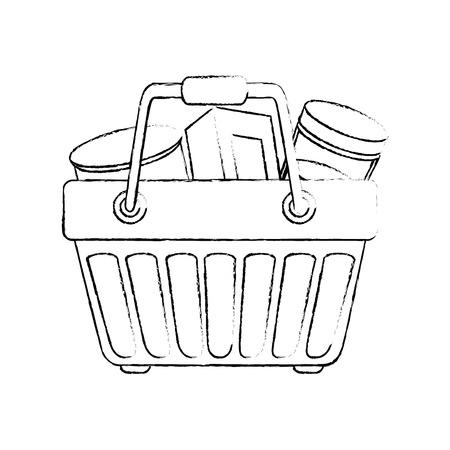 Carrello simbolo icona illustrazione vettoriale illustrazione grafica Archivio Fotografico - 81222098