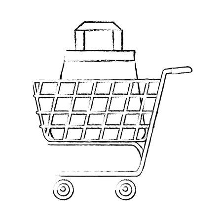 Warenkorb-Symbol Symbol Vektor-Illustration Grafik-Design Standard-Bild - 81222097