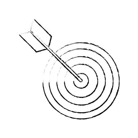 다트 판이 대상 기호 아이콘 벡터 일러스트 그래픽 디자인