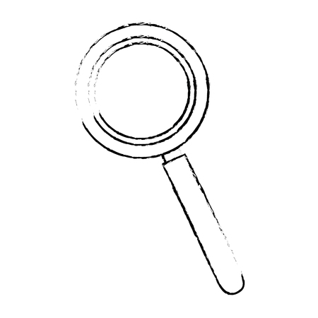 Magnifying glass lupe icon vector illustration graphic design Illusztráció