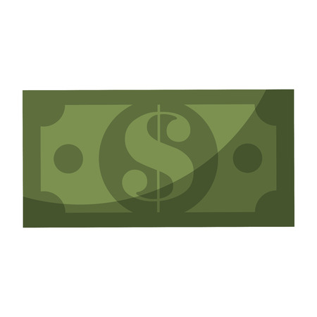 Money bill isolated icon vector illustration graphic design