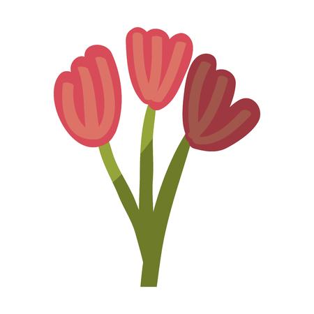 Beautiful flowers ornament icon vector illustration graphic design Çizim