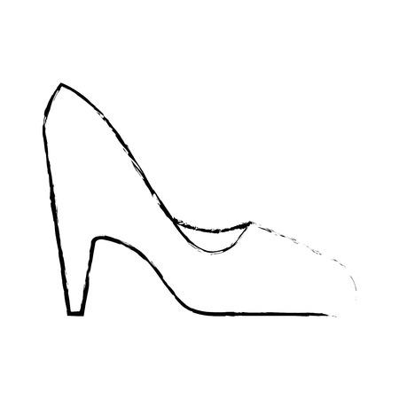 High heel shoes icon vector illustration graphic design Illustration