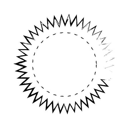 Stamp round label icon vector illustration graphic design Ilustracja