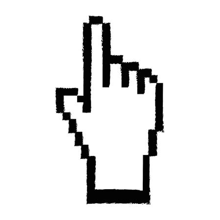 ハンド カーソル クリックしてアイコン ベクトル イラスト グラフィック デザイン  イラスト・ベクター素材