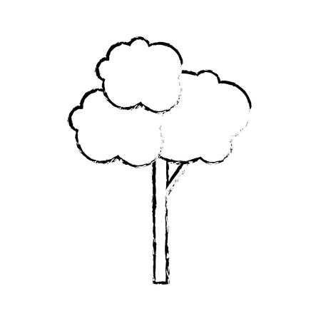 ツリー自然分離アイコン ベクトル イラスト グラフィック デザイン