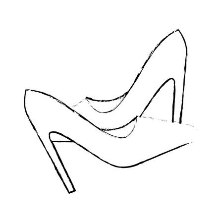 높은 뒤꿈치 신발 아이콘 벡터 일러스트 그래픽 디자인 일러스트