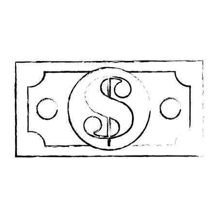 紙幣分離アイコン ベクトル イラスト グラフィック デザイン  イラスト・ベクター素材