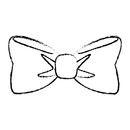 Bow tie isolated icon vector illustration graphic design Illustration