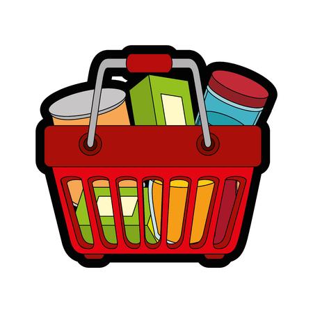 Einkaufskorbsymbolikonenvektor-Illustrationsgrafikdesign Standard-Bild - 81188496