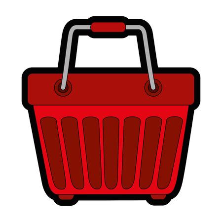 Shopping basket symbol icon vector illustration graphic design Illustration