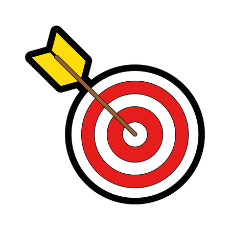 Dartboard target symbol icon vector illustration graphic design Illusztráció