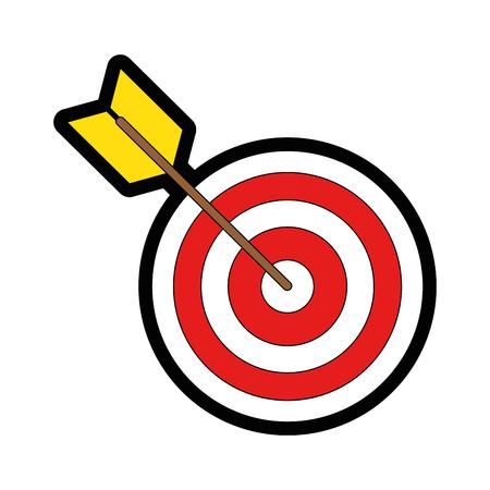 Diseño gráfico del ejemplo del vector del icono del símbolo de la blanco de la tarjeta de dalboard Foto de archivo - 81184858