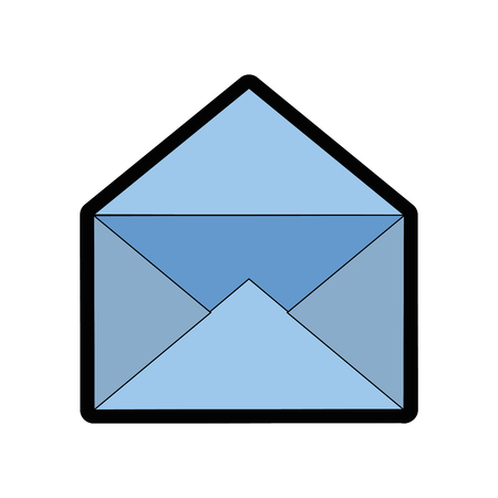 メールまたはメールのシンボル アイコン ベクトル イラスト グラフィック デザイン