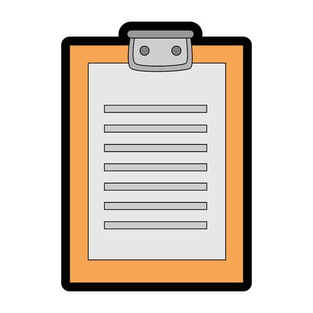 Van het het bladpictogram van het controlelijstdocument vector de illustratie grafisch ontwerp Stock Illustratie