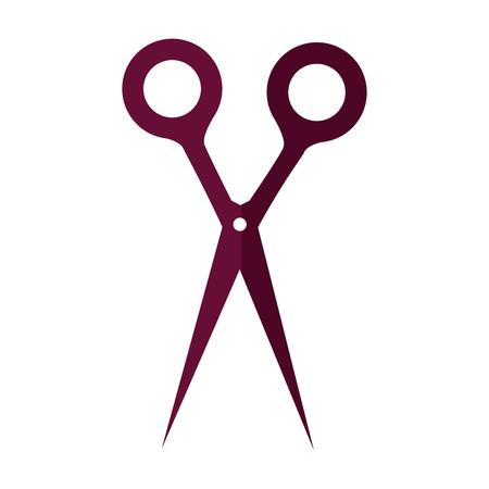 Scissors utensil isolated icon vector illustration graphic design
