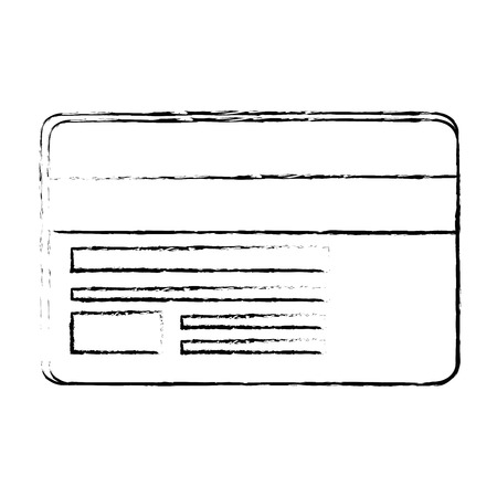 Credit card isolated icon vector illustration graphic design