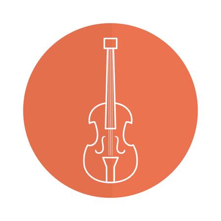 Violoncello musicale strumento icona illustrazione vettoriale illustrazione Archivio Fotografico - 81186318
