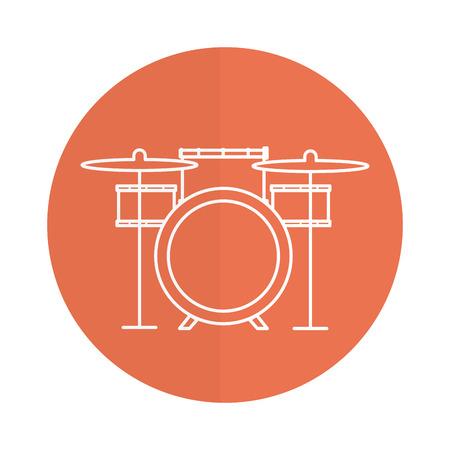 Battery drums musical instrument vector illustration design. Ilustrace