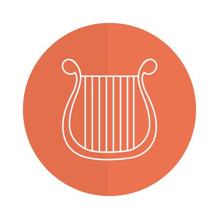 Harpe instrument de musique icône illustration vectorielle conception Banque d'images - 81185034