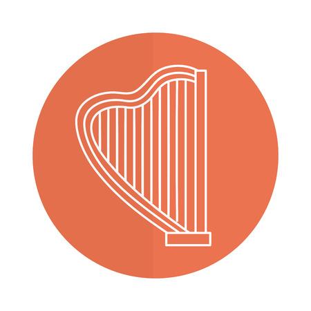 Harpe instrument de musique icône illustration vectorielle conception Banque d'images - 81185032