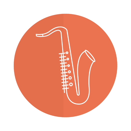 Saxophone musical instrument icon vector illustration design Illustration