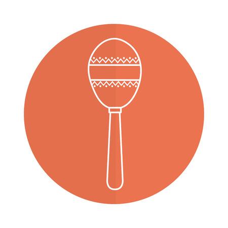 Maracas tropical instrument icon vector illustration design
