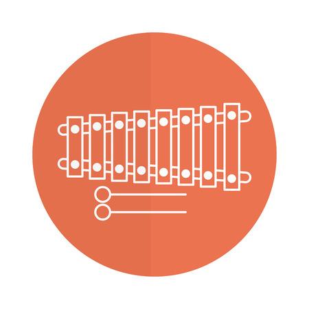 Ontwerp van de het pictogram vectorillustratie van de xylofooninstrument het muzikale Stock Illustratie