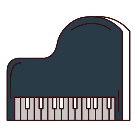 그랜드 피아노 악기 음악 벡터 일러스트 디자인 일러스트
