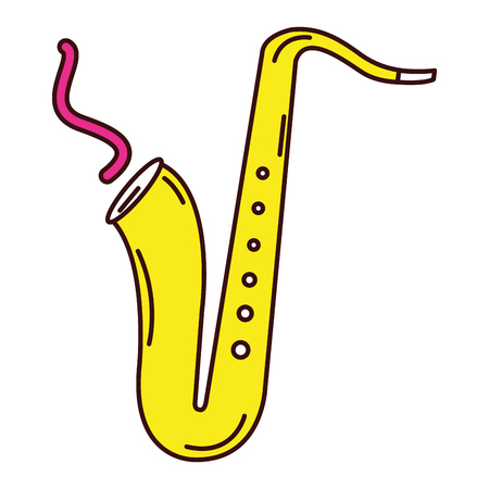 Saxophone musical instrument icon vector illustration design Stock Photo