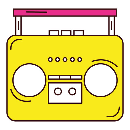 oude muziek speler pictogram vector illustratie ontwerp