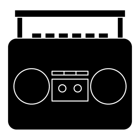 old music player icon vector illustration design