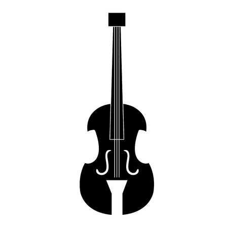 A cello musical instrument icon vector illustration design.