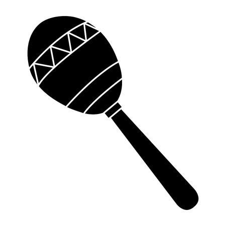 maracas tropical instrument icon vector illustration design Illustration