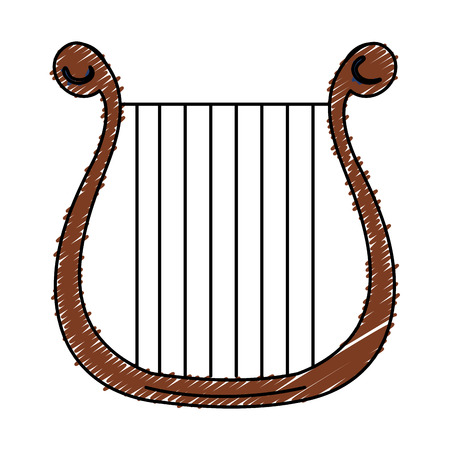 symphonic: harp musical instrument icon vector illustration design