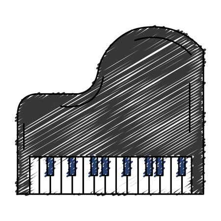 Grand piano instrument muzikaal vector illustratie ontwerp Stock Illustratie
